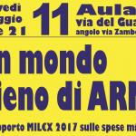 11 maggio, presentazione del rapporto MIL€X all'Università di Bologna