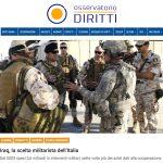Iraq, la scelta militarista dell'Italia
