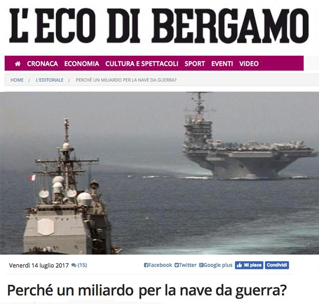Perché un miliardo per la nave da guerra?