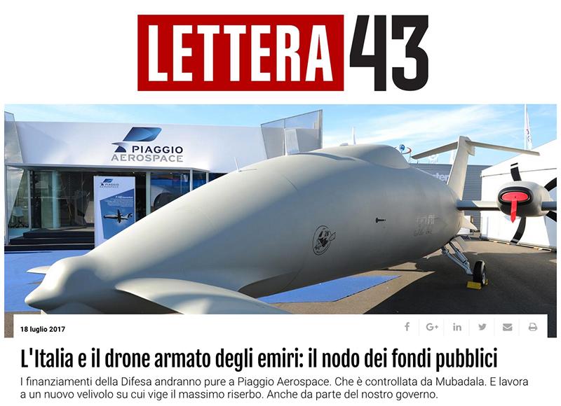 L'Italia e il drone armato degli emiri: il nodo dei fondi pubblici