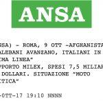 """Afghanistan: """"Talebani avanzano, italiani in prima linea"""". Rapporto Milex, spesi 7,5 miliardi di dollari. Situazione """"molto critica"""""""