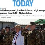 L'Italia ha speso 1.3 milioni di euro al giorno per la guerra (inutile) in Afghanistan