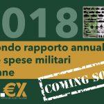 """Contribuisci anche tu al """"Rapporto Mil€x 2018 sulla spesa militare italiana"""""""