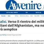 Verso il rientro dei militari italiani dall'Afghanistan, ma non sarà semplice