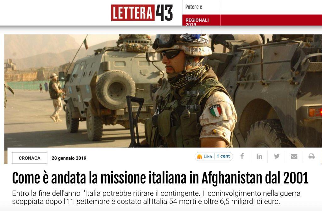 Come è andata la missione italiana in Afghanistan dal 2001