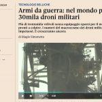 Armi da guerra: nel mondo più di 30mila droni militari